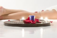 Legs in spa contest Royalty Free Stock Images