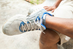 Legs and sport shoes Royalty Free Stock Photography