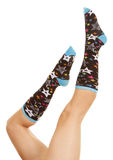 Legs star sock up Stock Photography