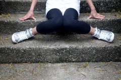 Legs on steps Royalty Free Stock Photography
