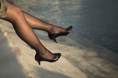 Legs and stockings Royalty Free Stock Photography