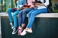 Legs of students Royalty Free Stock Photography