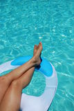 Legs swimming Royalty Free Stock Images