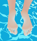Legs in swimming pool Royalty Free Stock Images