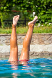 Legs in a swimming pool Stock Photography