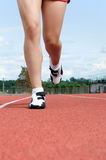 Legs on a Track \ Stock Photo