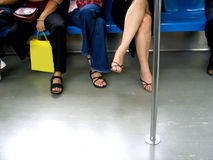 Legs In A Train Stock Images