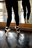 Legs training ballerina Royalty Free Stock Photo