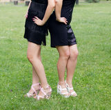 Legs of two women Royalty Free Stock Images