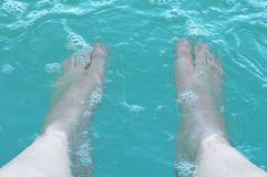 Legs in water Royalty Free Stock Photography
