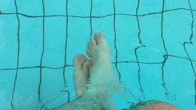 Legs in the water stock video