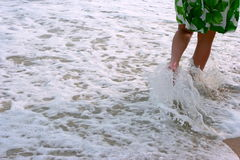 Legs in the waterfllow. Stock Photo