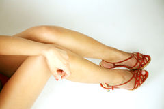 Legs wearing heels Royalty Free Stock Photography