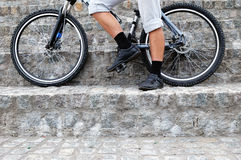Legs and wheels Royalty Free Stock Photo