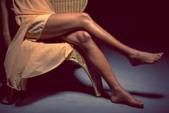 Legs of a woman Stock Images