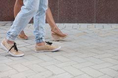 Legs of young couple Royalty Free Stock Image