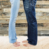 Legs of young couple Royalty Free Stock Photo
