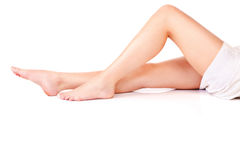 Legs of young woman Royalty Free Stock Photography
