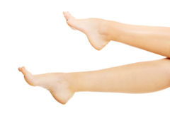 The legs of a young woman Royalty Free Stock Photo