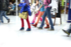 Legs youth / kids clothed colorful Stock Photo
