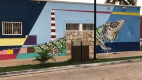 Leguan in der Wand Lizenzfreies Stockfoto