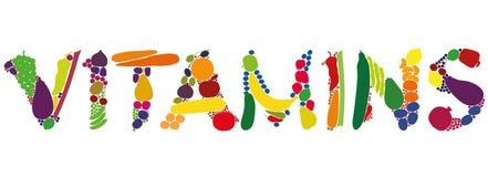 Legumbres de frutas de las vitaminas Imagenes de archivo