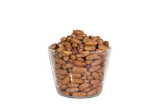 Legume, bean and glass. Legume, bean in transparent glass Stock Photography