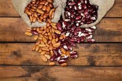 Legume. Bean Sack Food Burlap Pinto Bean Agriculture Stock Images
