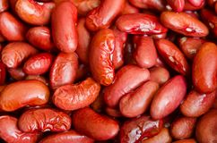 Legume. Close-up of group legume beans on the plate Stock Photos