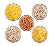 Legume e fagioli dei granuli Fotografia Stock Libera da Diritti