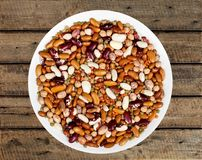 Legume. Bean dry lentil food dried food white stock photography