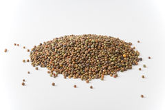 Legume Roveja seeds. On a white background Royalty Free Stock Image