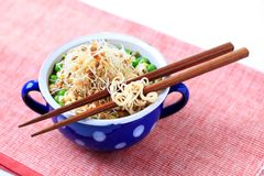 Legume soup with noodles Royalty Free Stock Photography