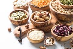 legumes семена и гайки на белизне Стоковая Фотография