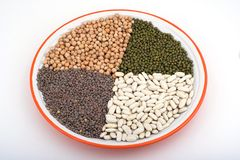 Legumes. Plate of legumes Royalty Free Stock Photos