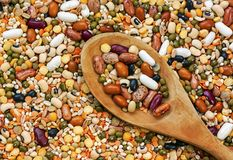 Legumes with background Royalty Free Stock Photos
