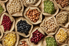 Legumes Bean Seed Top View Stock Images
