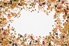 Legumes and cereales background Royalty Free Stock Photography