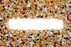 Legumes and cereales menu Stock Image