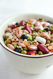 Legumes and cereals stock image