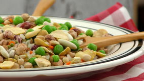 Legumes Delicious and Healthy Mix Food stock footage