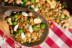 Legumes Dlicious and Healthy Natural  Mix Food Stock Photos