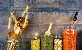 Legumes Dlicious i Zdrowy Naturalny mieszanki jedzenie Fotografia Royalty Free