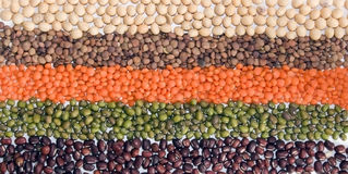 Legumes flag stock photography