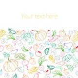 Legumes frescos com placeholder para o texto Fotos de Stock