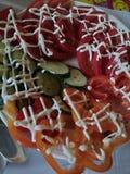 Legumes frescos do alimento saboroso e saudável sobre foto de stock royalty free