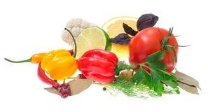 Legumes frescos e ervas fotografia de stock