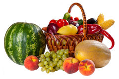 Legumes frescos e fruta diferentes fotos de stock