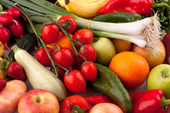 Legumes frescos e frutas Fotografia de Stock Royalty Free