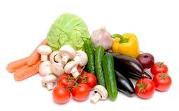 Legumes frescos em um fundo branco Fotos de Stock